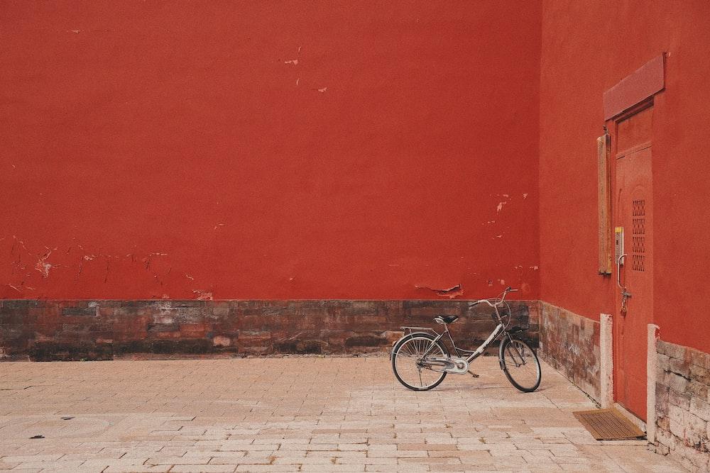 bike park near closed door