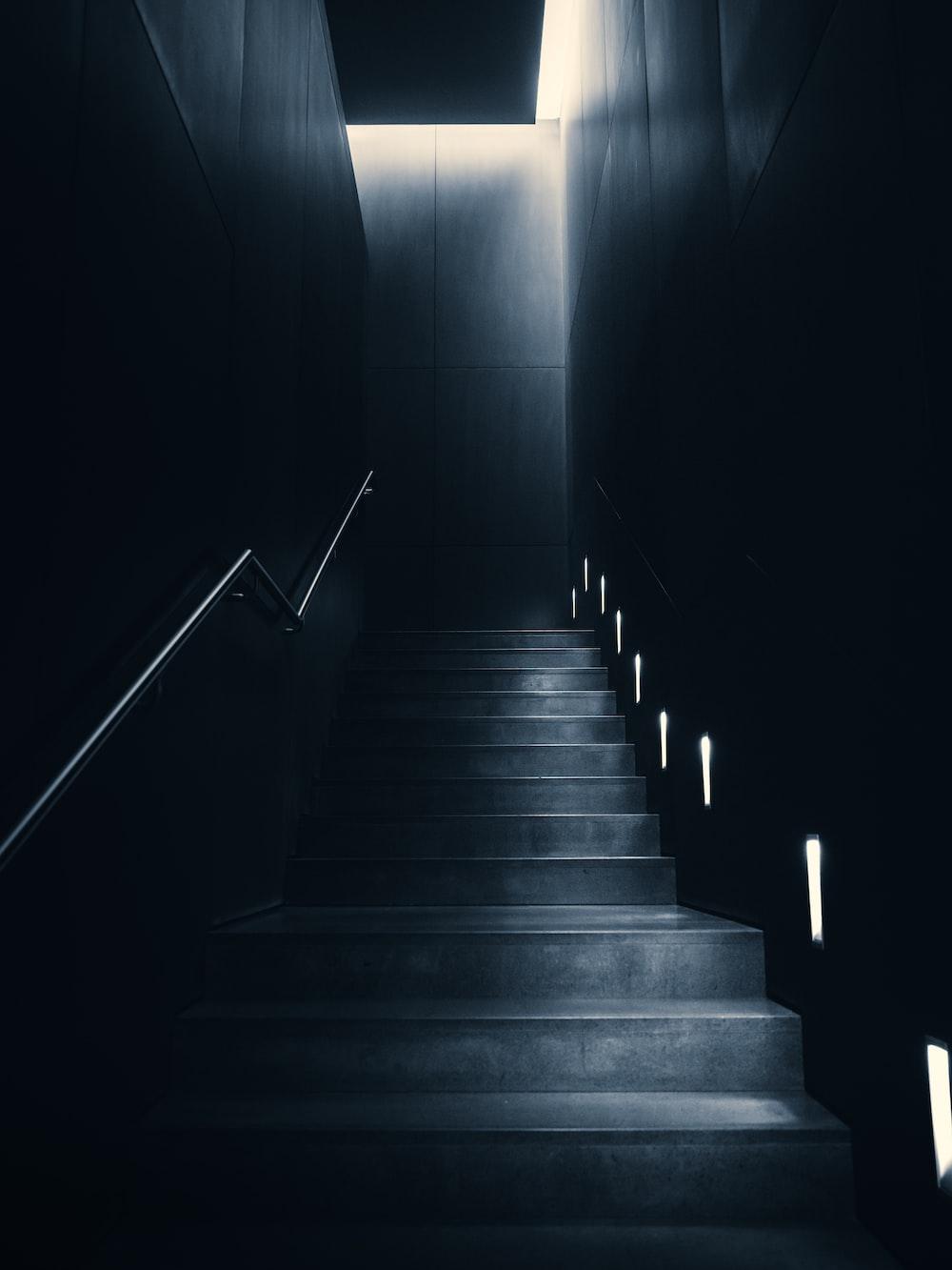 gray stairs