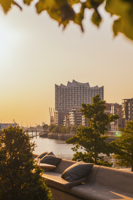 cityscape beside body of water