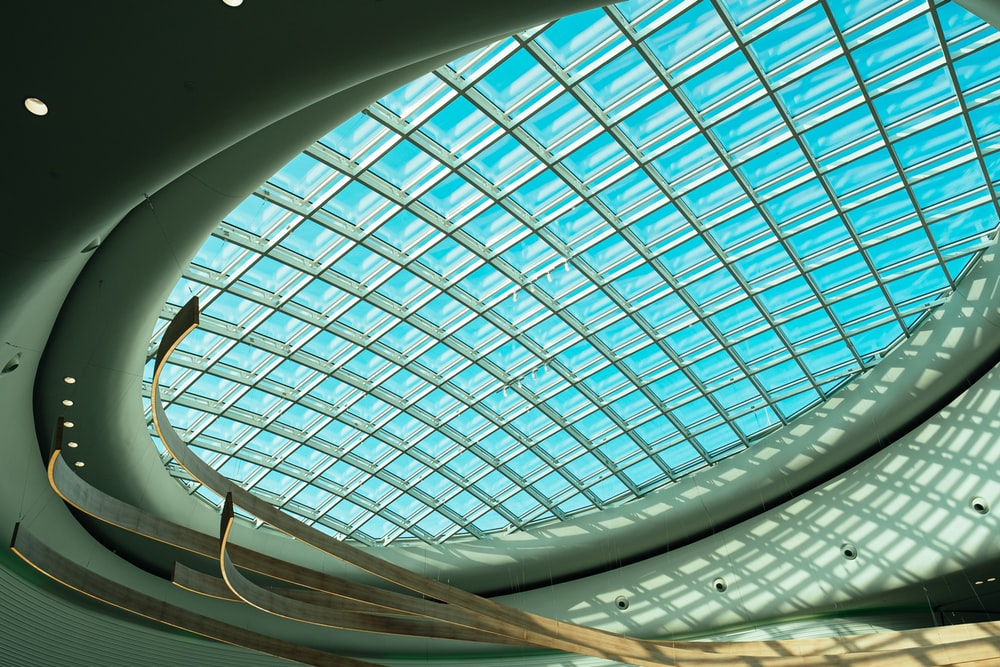 round clear glass ceiling