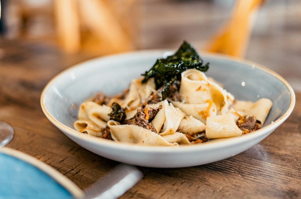 pasta dish on plate