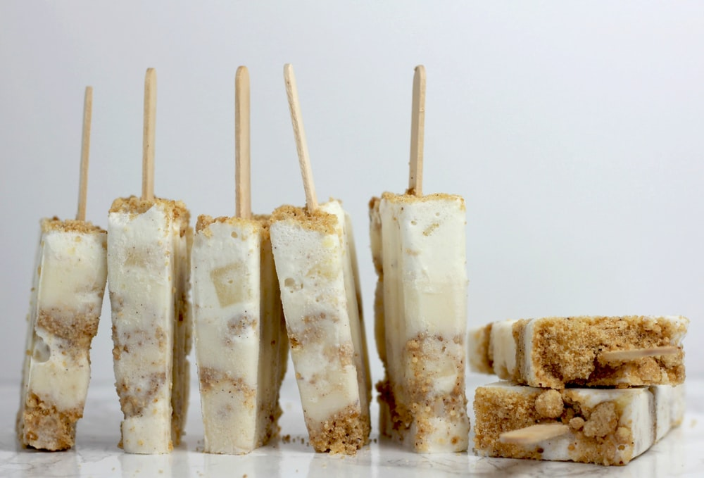 white and brown popscicles