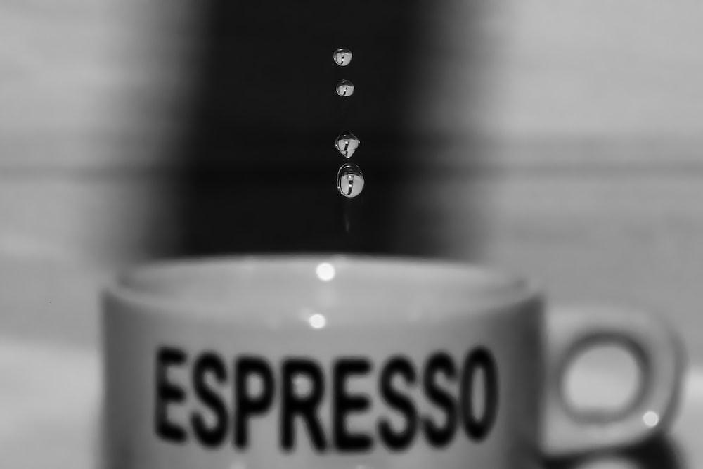 white espresso ceramic mug
