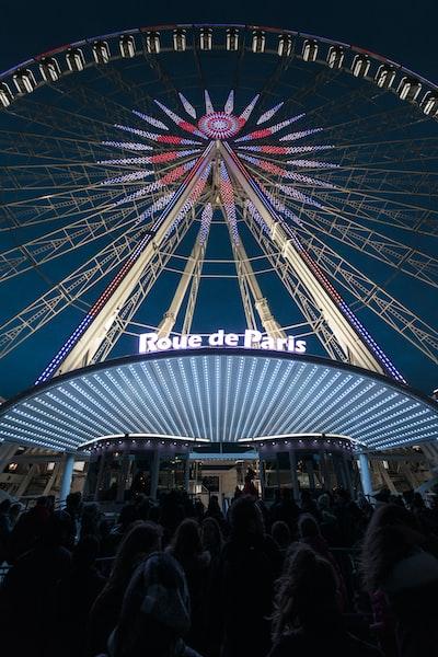 worm view photo of Ferris wheel