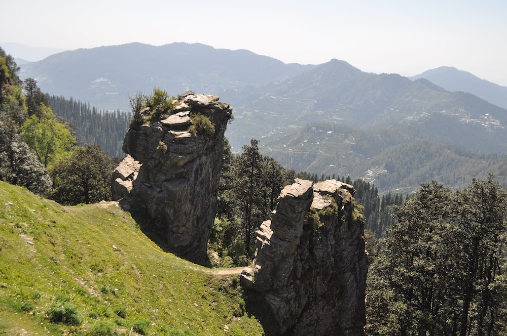 rock formations on mountain ranges