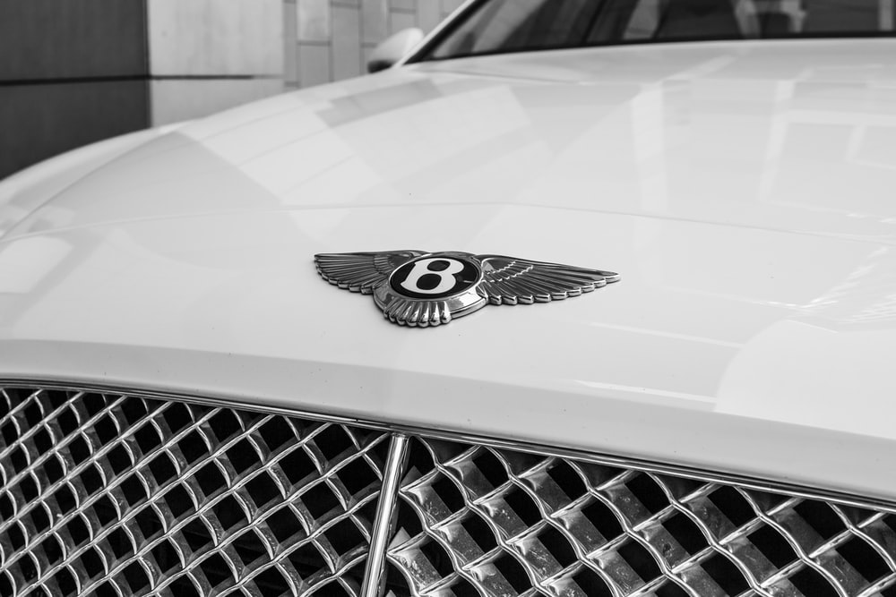 white Bentley logo