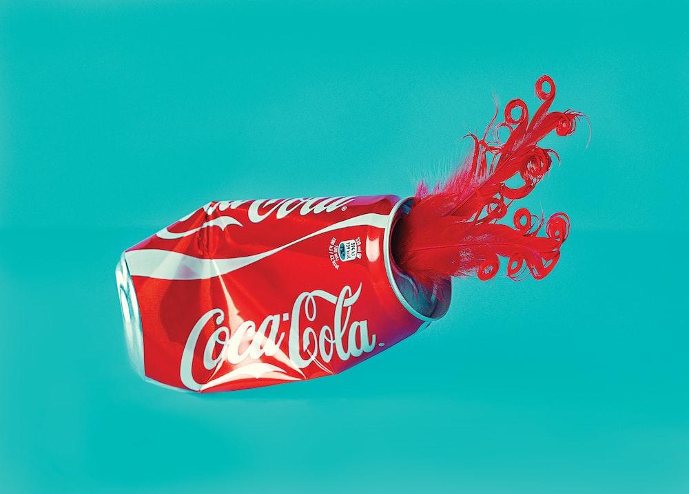 dented Coca-Cola can