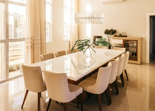 empty dining set indoors