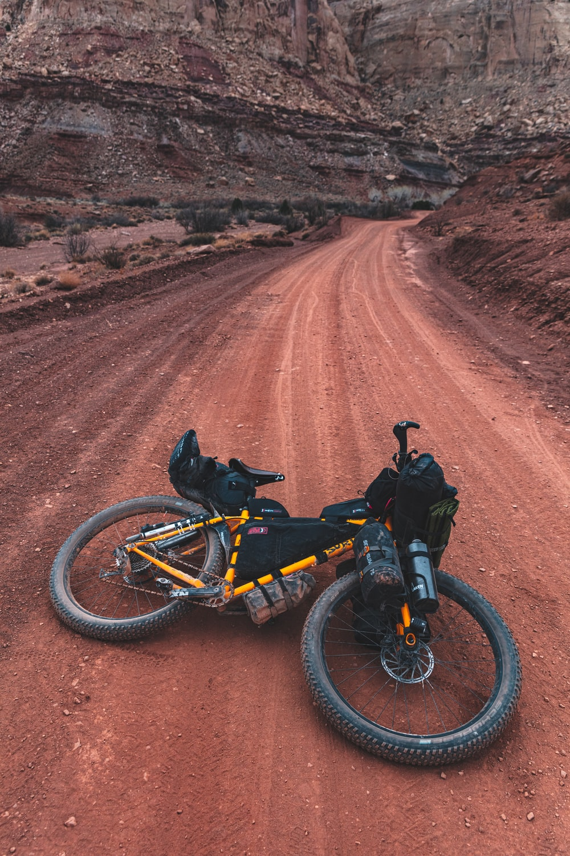 hardtail bike on road