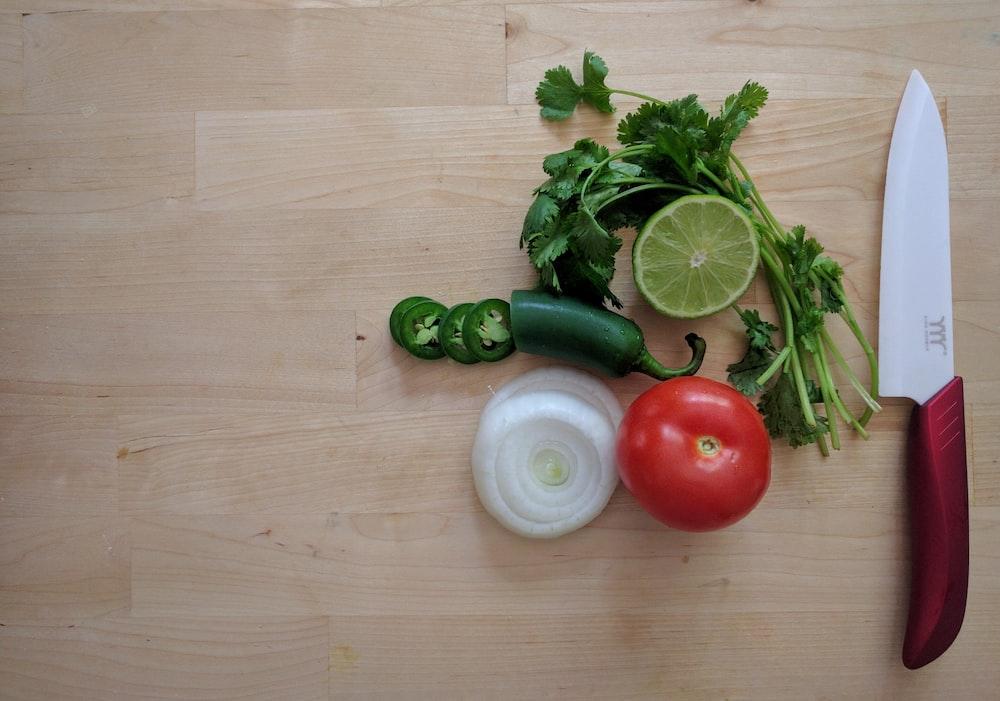 sliced vegetables and fruits