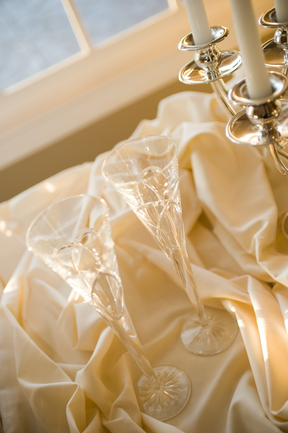 beige textile