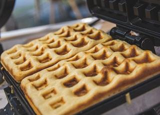waffles in waffle maker