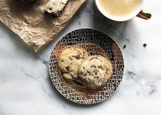 cookie beside coffee