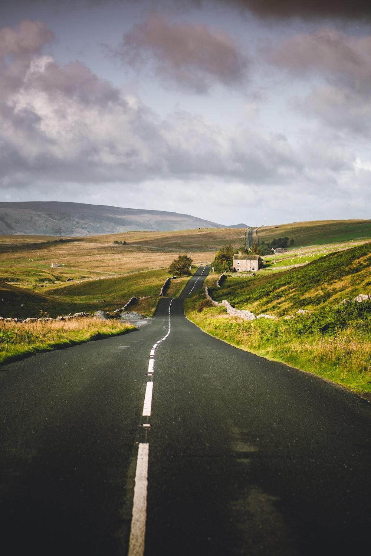 road near hills
