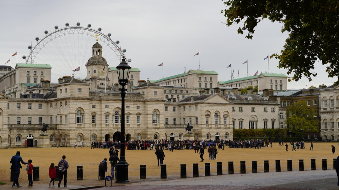 Horse Guards with London Eye