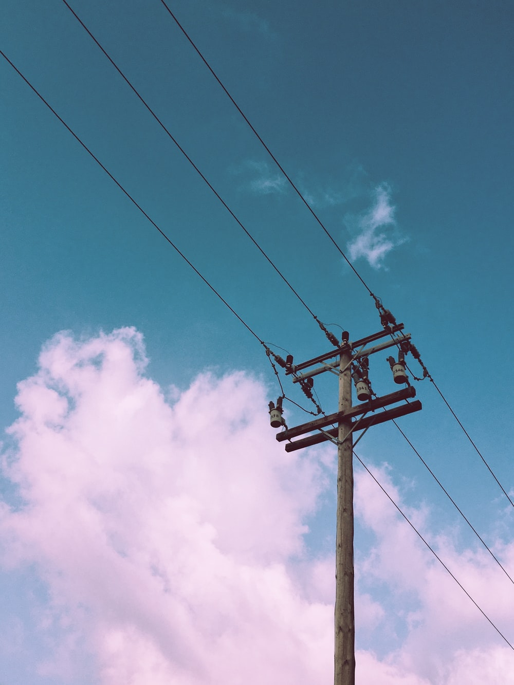 gray electric post