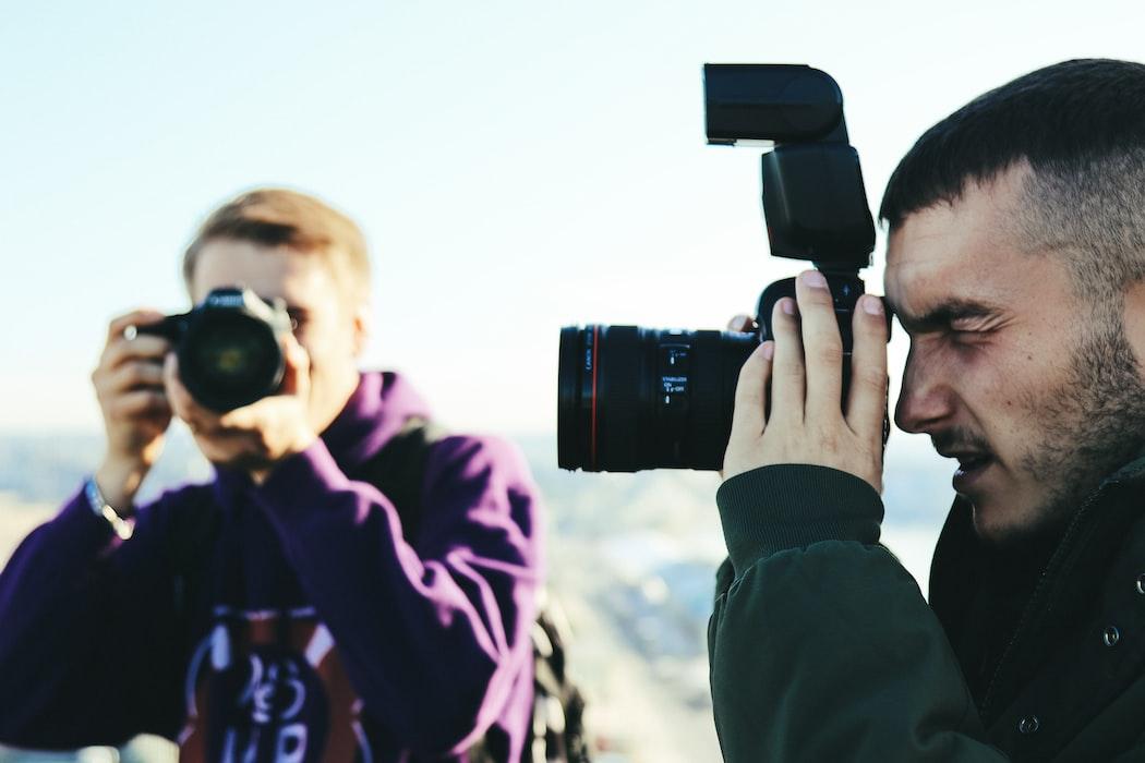 fotógrafos fotografando