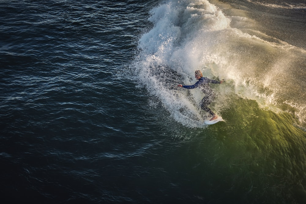 person doing surfboard