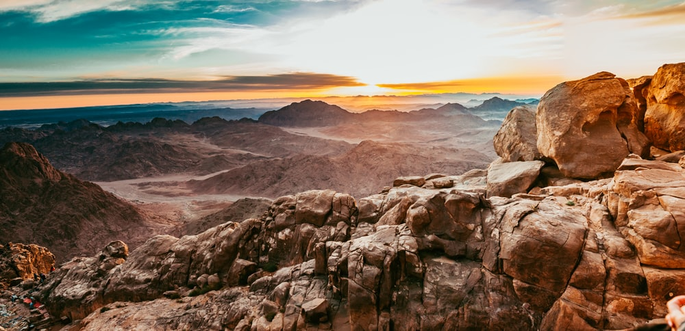 photo of brown mountain