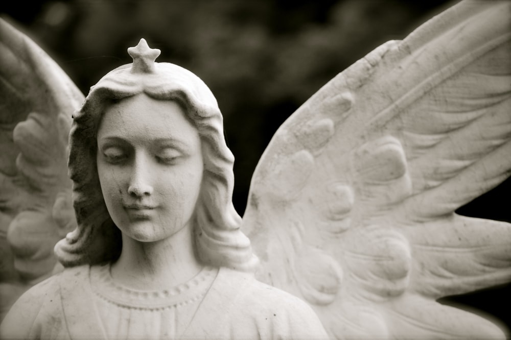 photo of angel statue