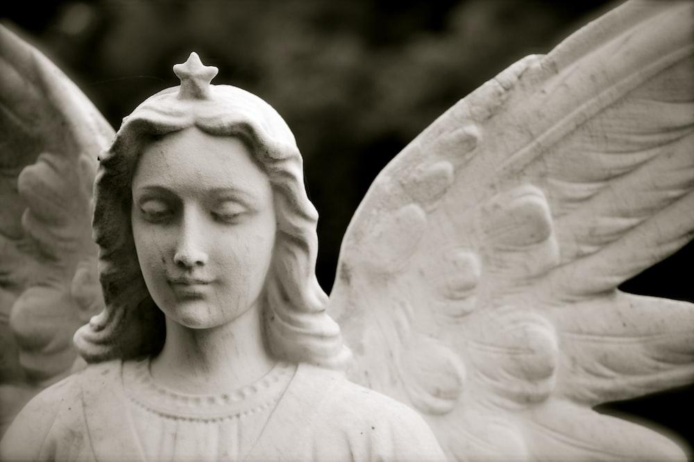 photo of angel statue