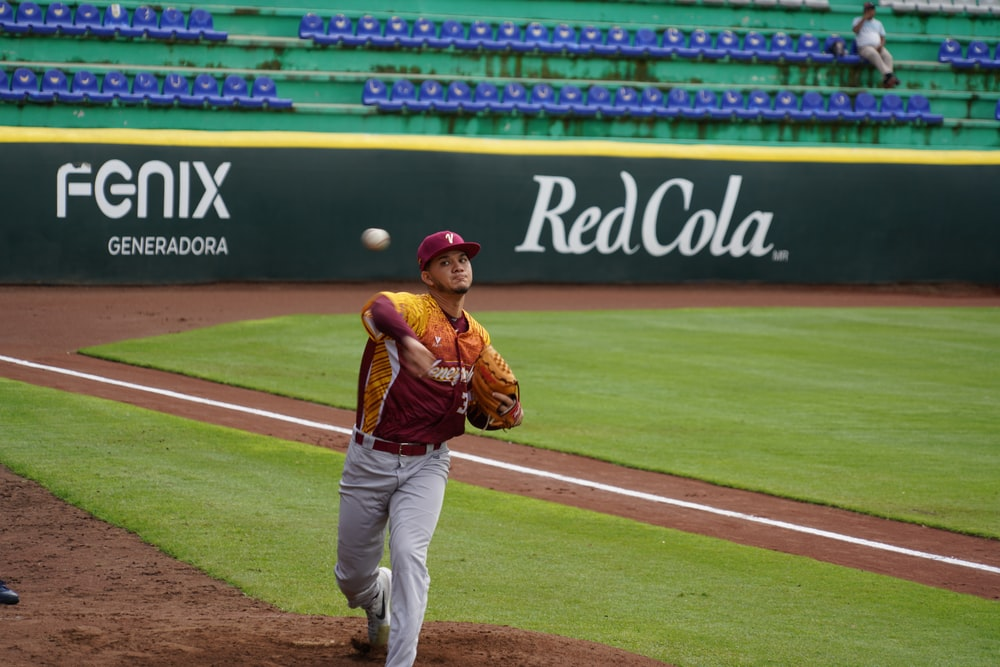pitcher throwing ball