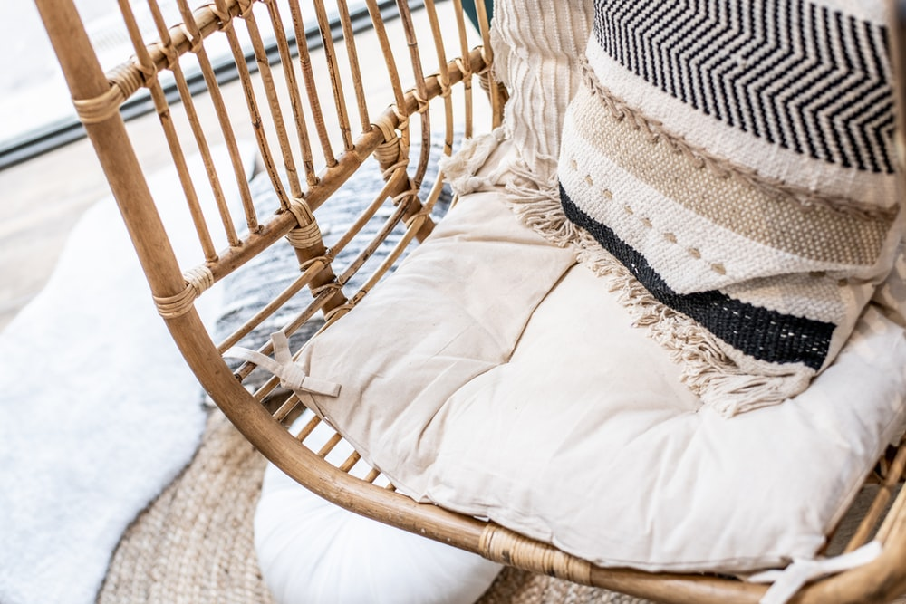 pillows on swing