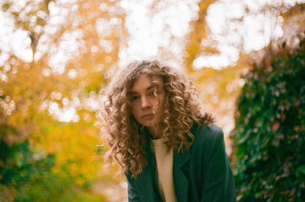 woman in green blazer