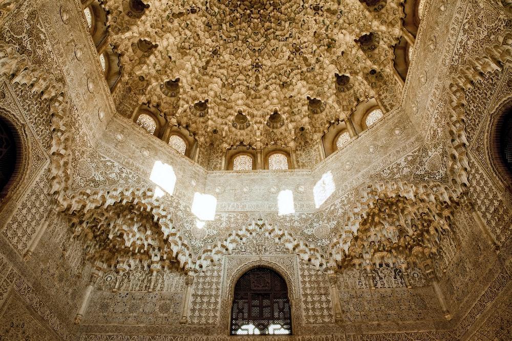 inside Alhambra Palace in Granada, Spain