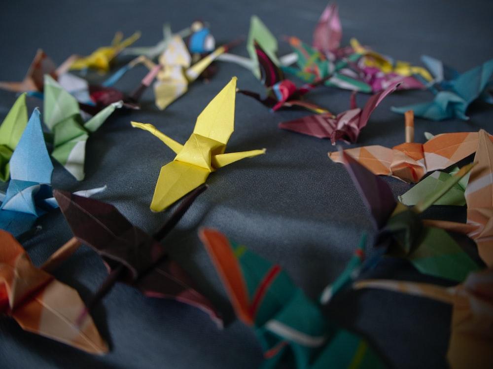 multi-colored origami