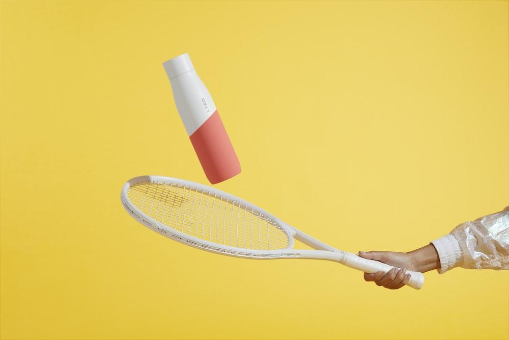 white tennis racket