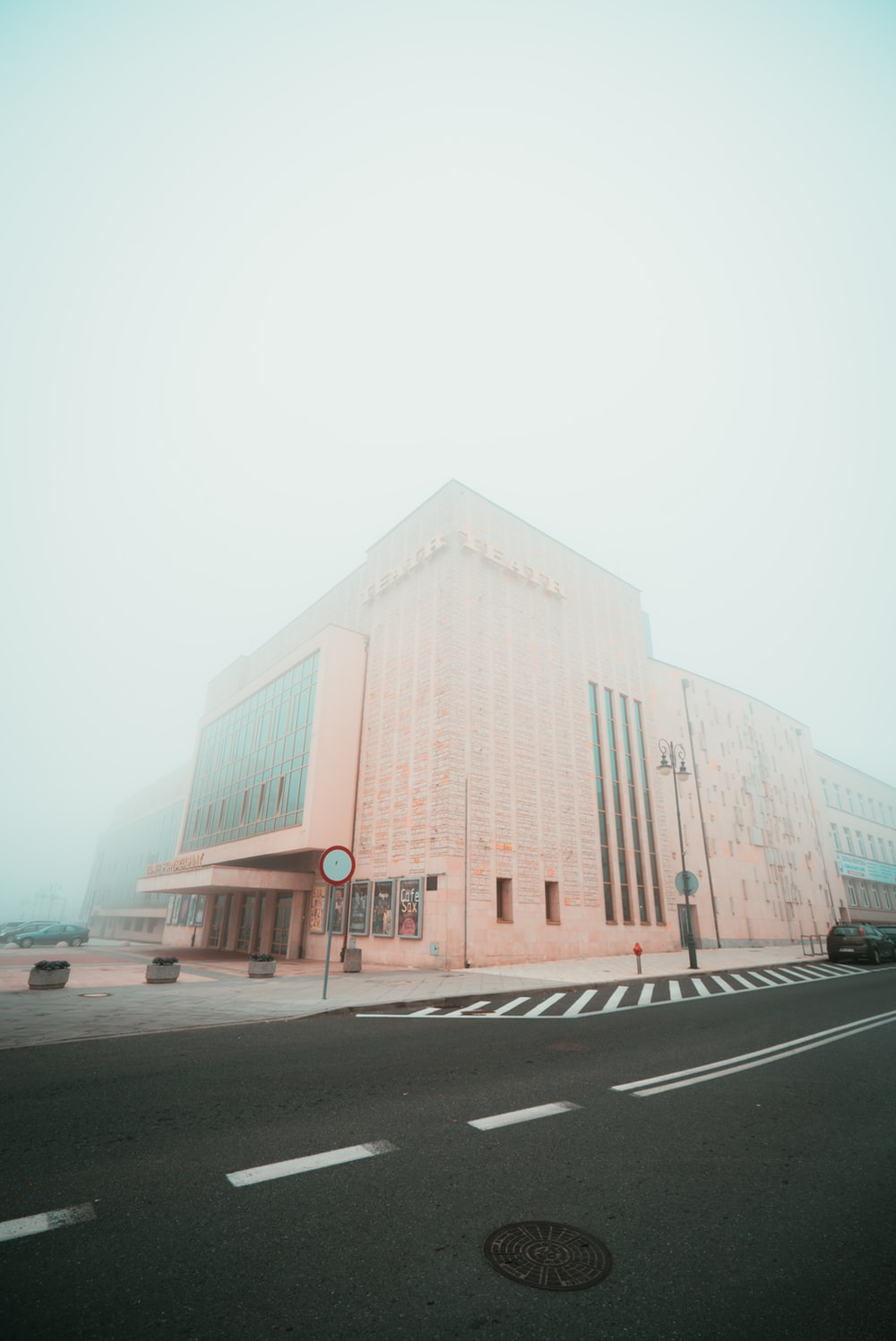 architectural photography of brown building