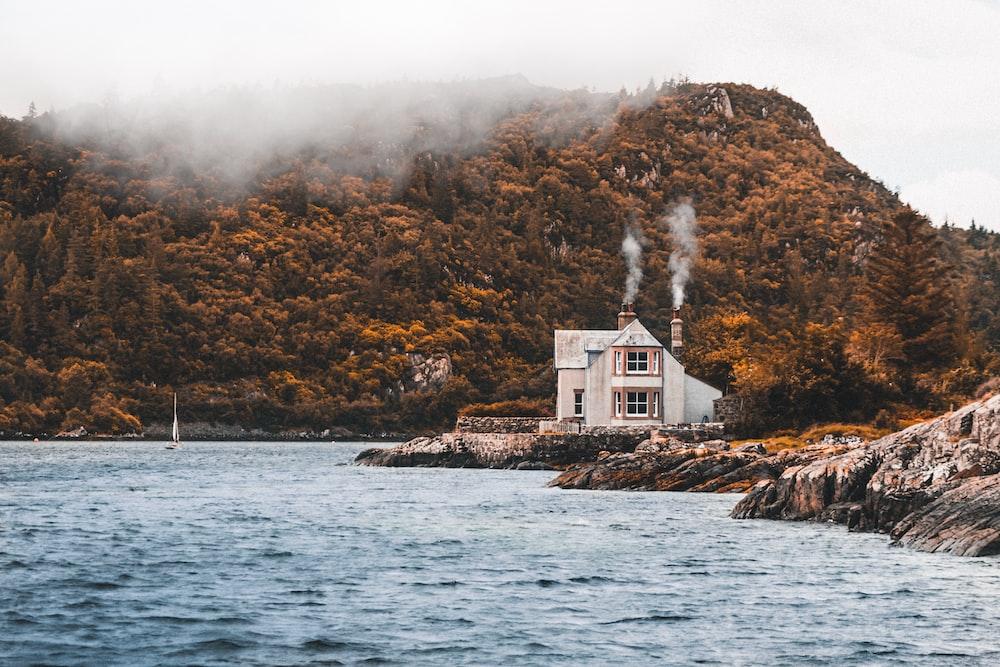 house beside lake