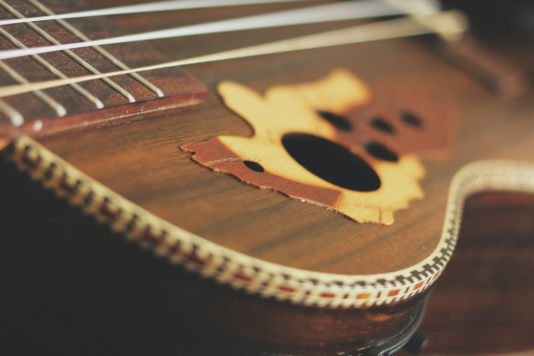 Baritone ukulele close-up
