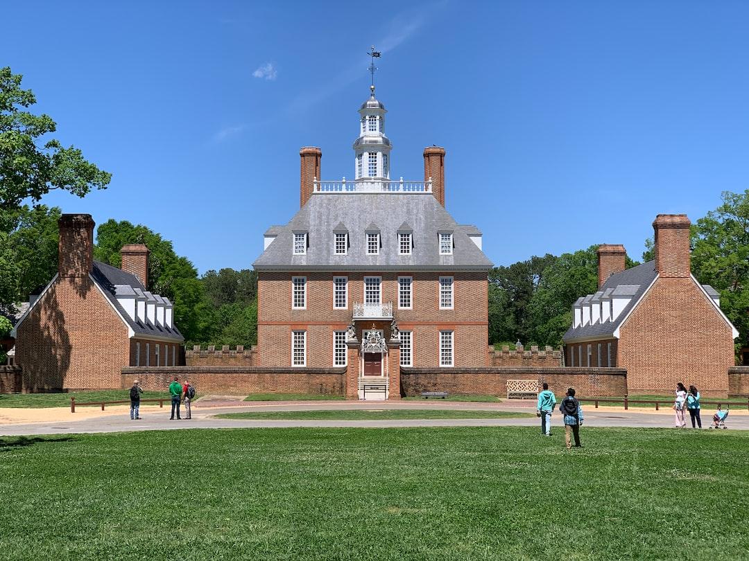 Governor's Mansion in Colonial Williamsburg, VA.
