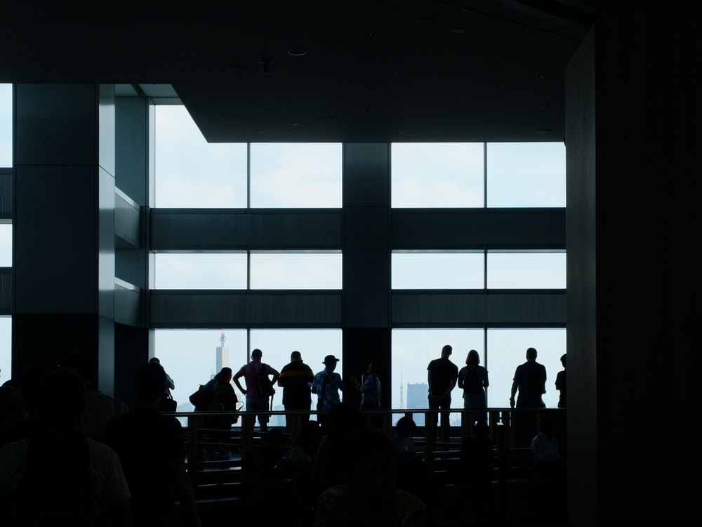 group of people inside the building