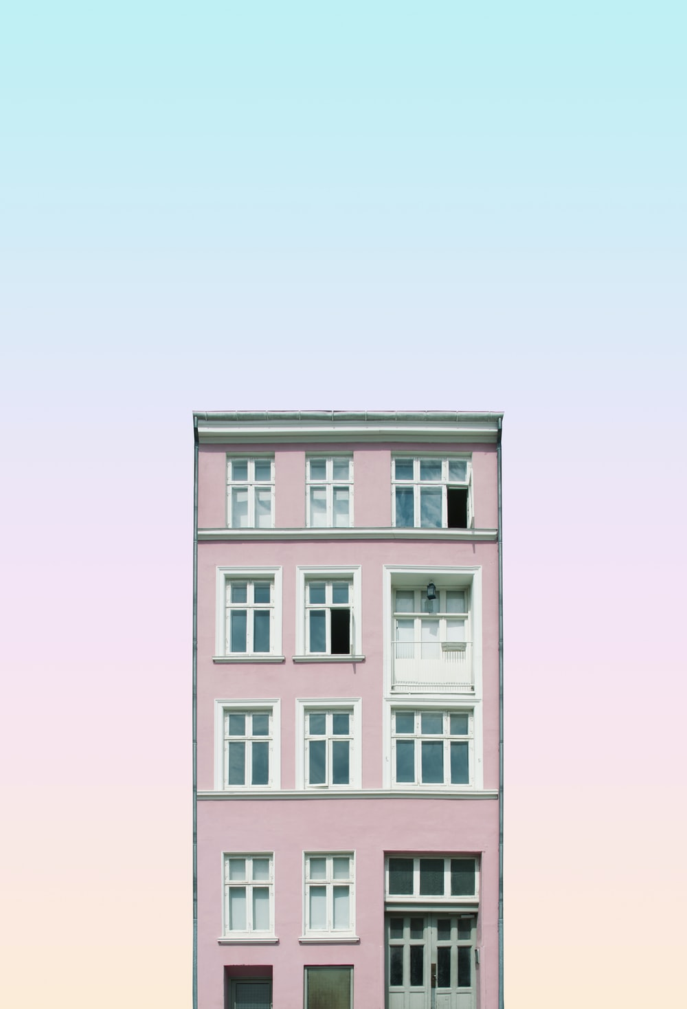 pink painted building