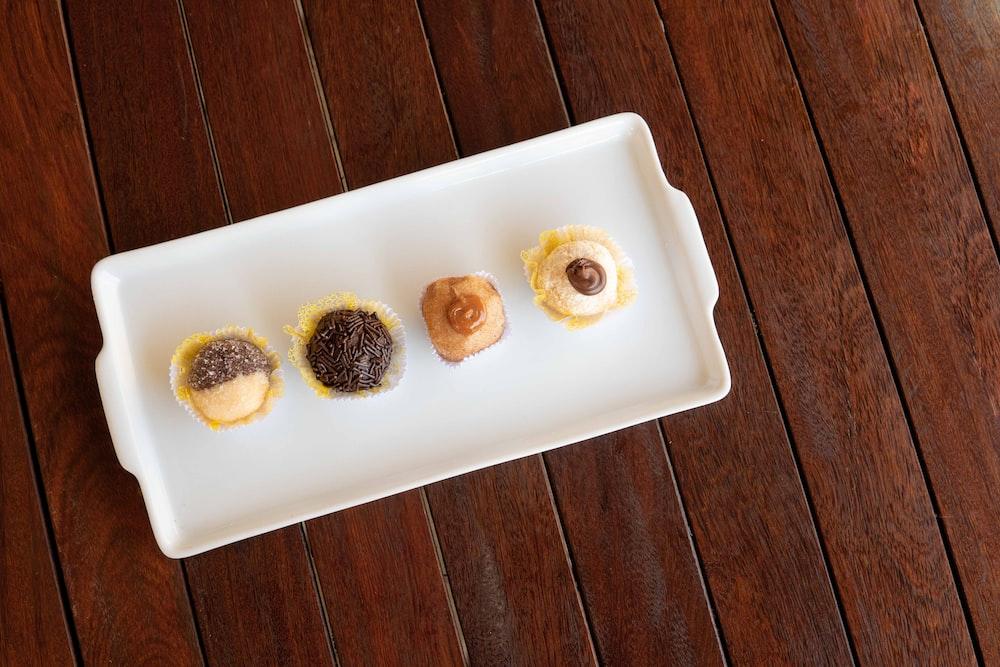 cupcakes on white tray