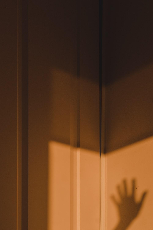 hand shadow on wall