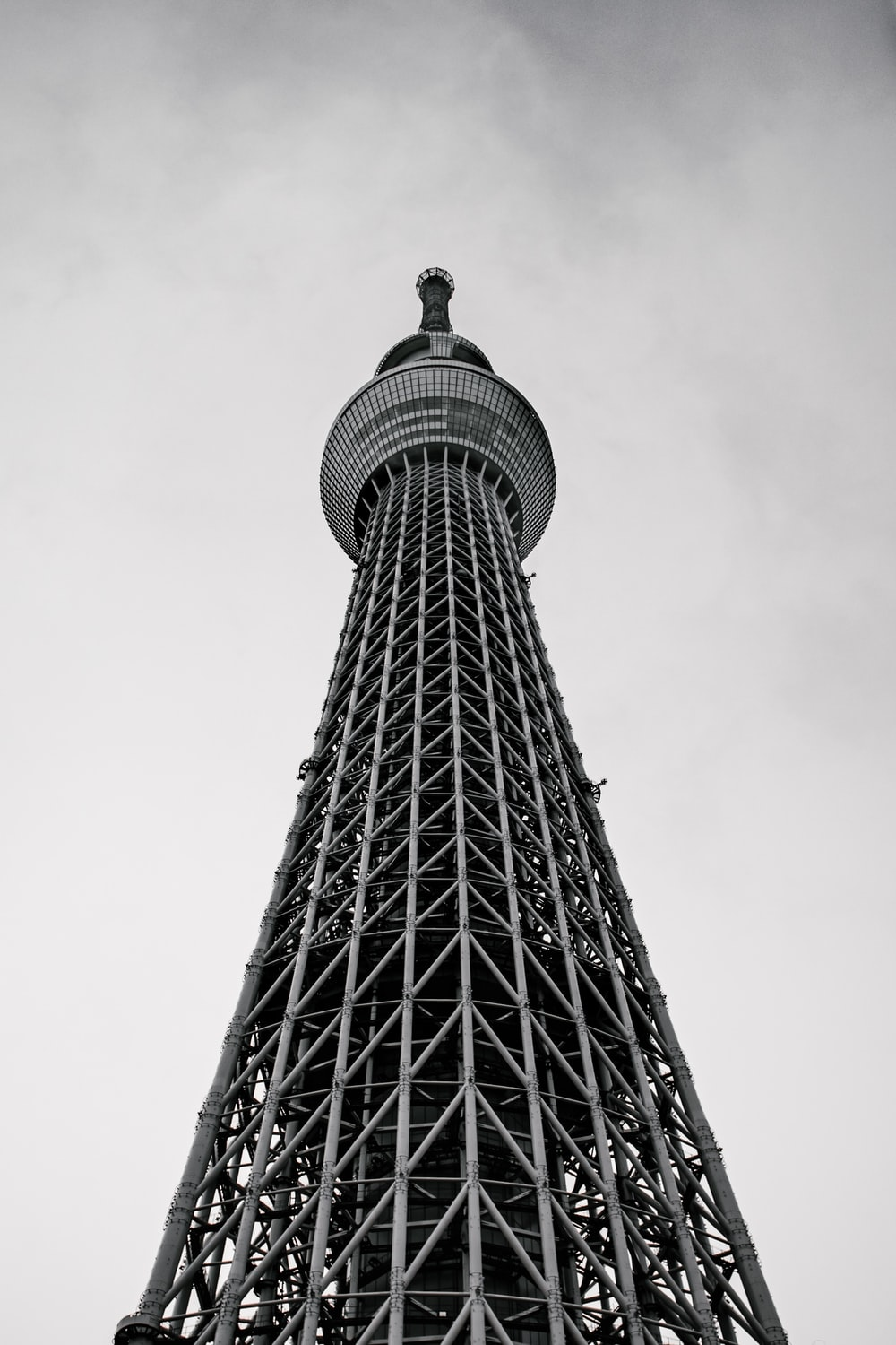 grayscale photo of tower building