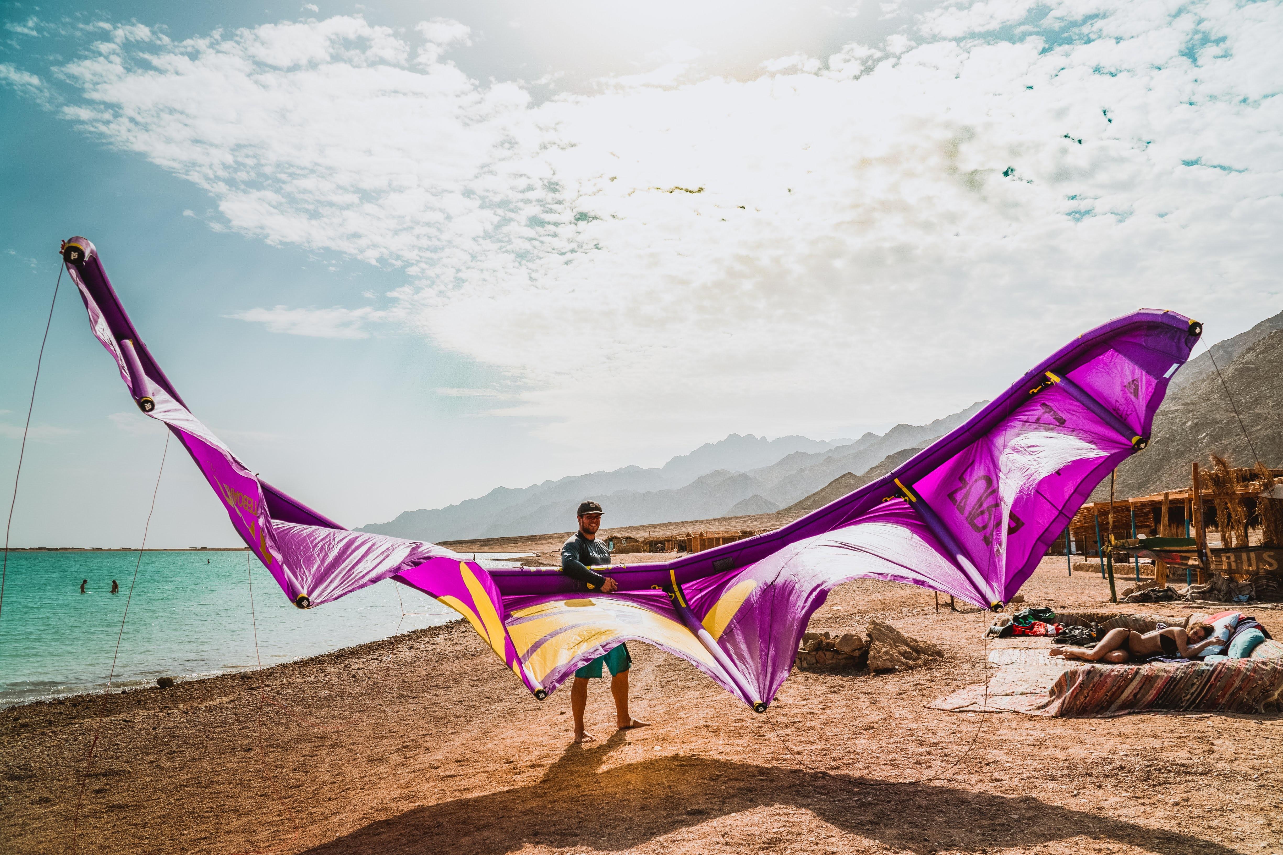 preparing for the kite session