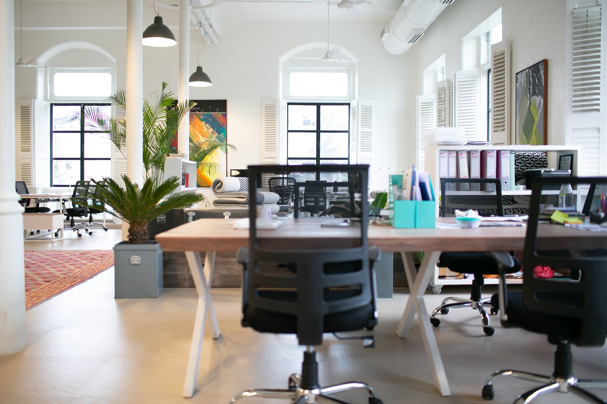Calm office environment in India