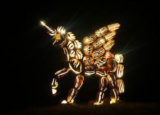lighted unicorn statue