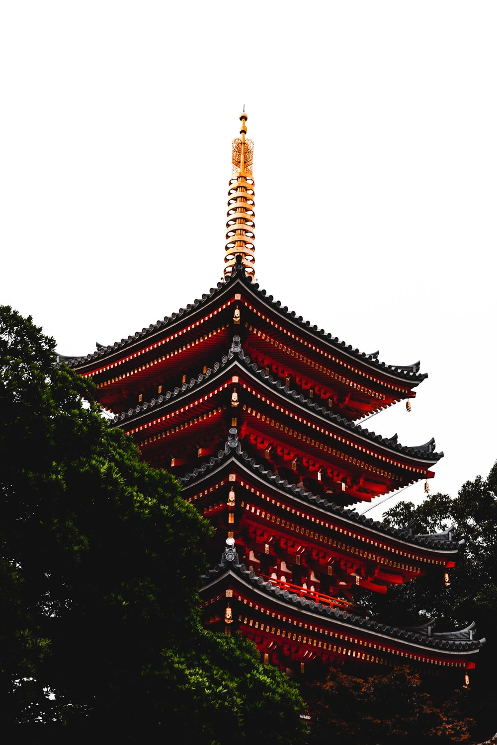 red and brown temple