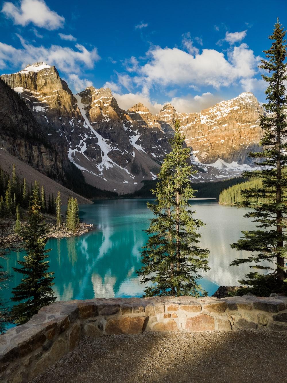 lake and mountain photograph