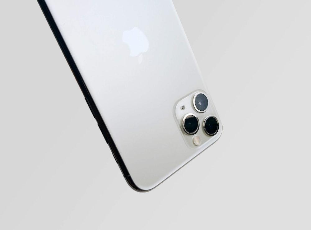 silver iPhone XI