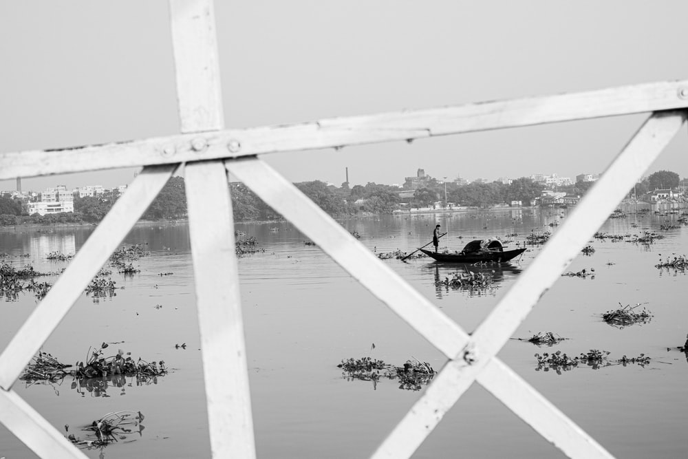 grayscale photo of balustrade