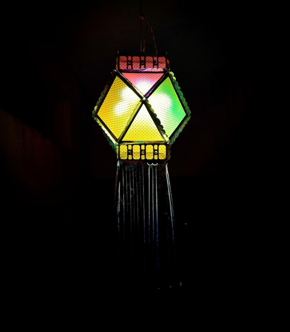 lighted hanging decor