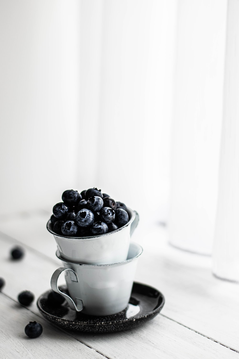 bucket of black berries