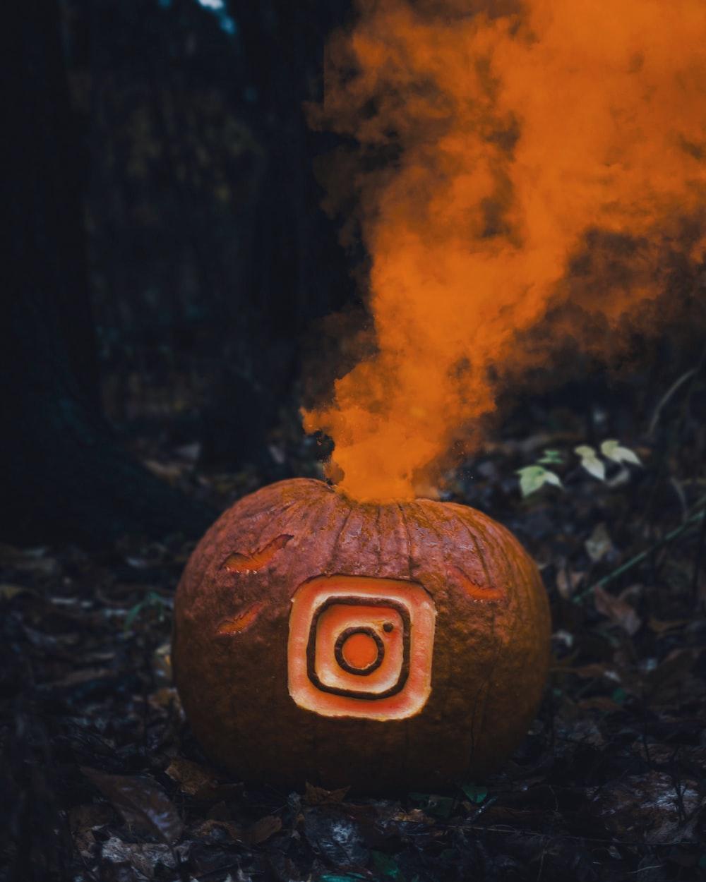 Jack-O-Lantern emitting smoke